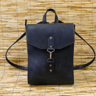 Рюкзак женский Модель №78 Винтажная кожа цвет черный