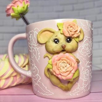 кружка чашка мышка  подарок девочке девушке