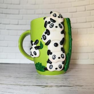чашка кружка панды милые подарок