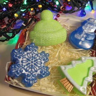 Подарок на Новый год набор мыла