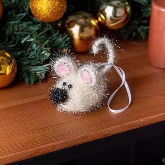 """Игрушка на елку """" Новогодняя мышь """""""