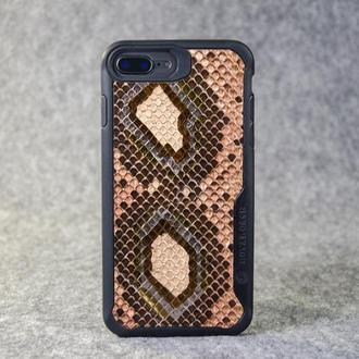 Чехол для iPhone 6/7/8plus из натуральной кожи питона с основанием из термополиуретана