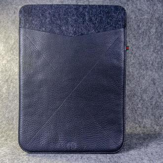 Чехол для ноутбука /  MacBook из фетра и кожи