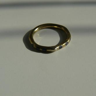 Кольцо латунная с холодной эмалью