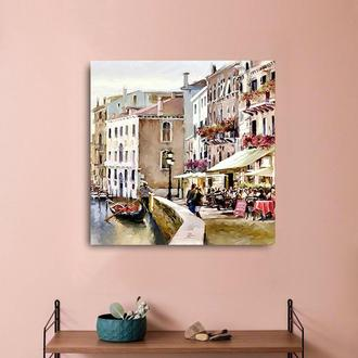 """Интерьерная картина"""" Венеция"""".Холст.Арт-принт.30*30см."""