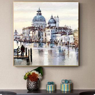 """Интерьерная картина.""""Венеция"""".Холст.Арт-принт.30*30см."""