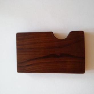 картхолдер деревянный