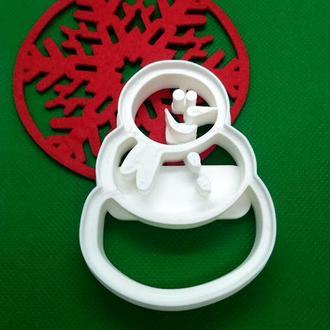 Пресс-форма для печенья(пряников) Снеговик, шт