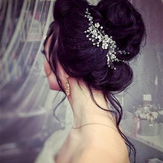 Свадебное украшение для волос, веточка в прическу, украшения в прическу, прикраса у зачіску