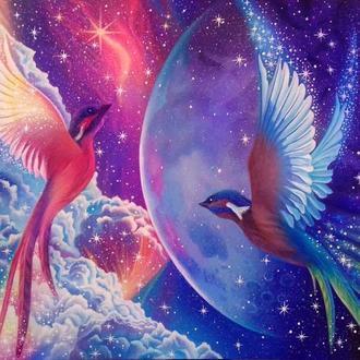 """Картина """"Гармония Вселенной"""", акрил, холст, 50х70см"""