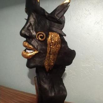 Скульптура фантастического лица девушки (Fantasy)