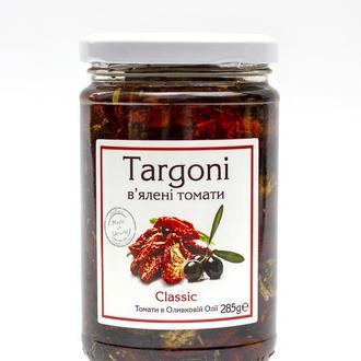 """В'ялені томати """"Classic"""" Targoni в оливковій оліїї зі спеціями .285 г. Вяленые помидоры."""