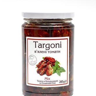 """В'ялені томати """"Mix"""" ТМ Targoni. 285 г. Вяленые помидоры"""