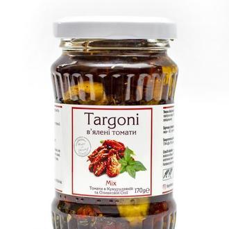 """В'ялені томати """"MIX"""" Targoni в кукурудзяній та оливковій оліїї зі спеціями.170 г. Вяленые помидоры."""