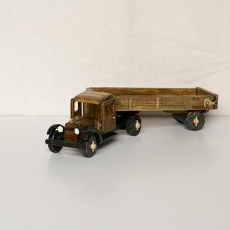 Машинка из дерева  / Грузовик ГАЗ-АА с прицепом