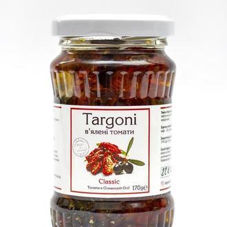 """В'ялені томати """"Classic"""" Targoni в оливковій оліїї зі спеціями .170г. Вяленые помидоры."""