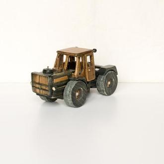Машинка из дерева / Трактор Т-150 (чёрный)