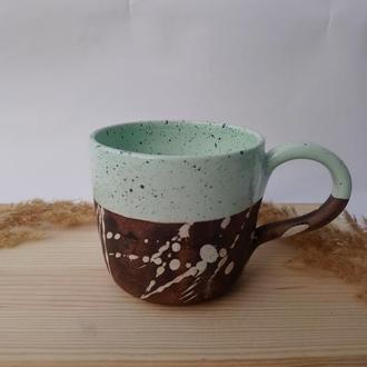 "Чашка керамічна ""Ментол"", 400мл"