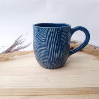 """Чашка керамічна """"Грані"""", 380мл"""