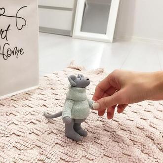 Мистер Мышь символ нового 2020 года мышонок крыса тильда игрушка сувенир подарок