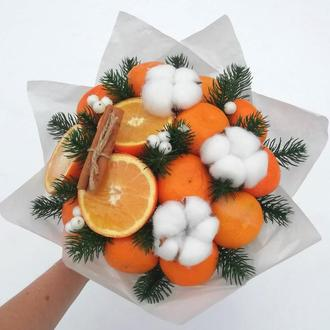Букет з мандарин (новорічний фруктовий букет)