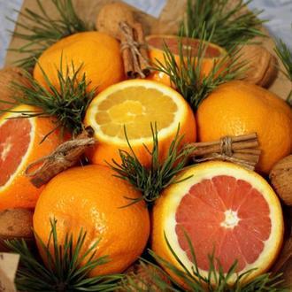 Новогодний фруктовый букет