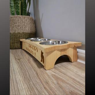 Підставка на три миски Pet's Bar для котів