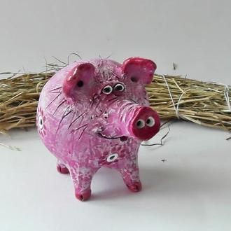 Свистулька свинья красноухая свинка розовая свищик