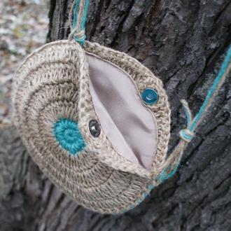 Вязанная сумка -клатч