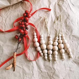 Новогодний и рождественский декор, елочные игрушки деревянные