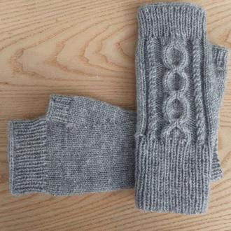 Вязаные митенки - перчатки без апльцев