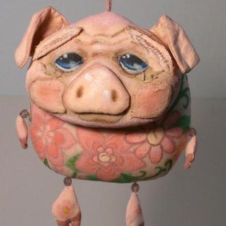 Интерьерная игрушка Свинка-подвеска