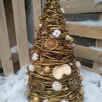 Інтер'єрна декоративна новорічна екоЯлинка 70 см