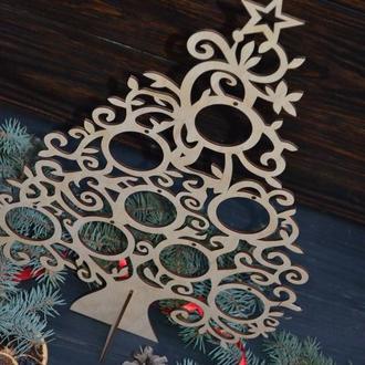 Новогодний декор, настольная ёлка, ёлочка для дома, офисных помещений, витрины, деревянная елка