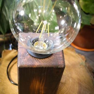 Деревянный светильник. Натуральное дерево. Оригинальный подарок.