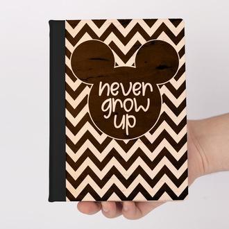 Деревянный блокнот с гравировкой, записная книжка, скетчбук микки Mickey Mouse