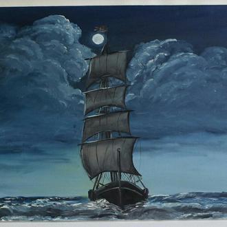 Картина масло, холст 40х50 Lubov Vakulenko №2011