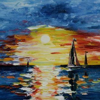 Картина масло, холст 40х30 Lubov Vakulenko №2038