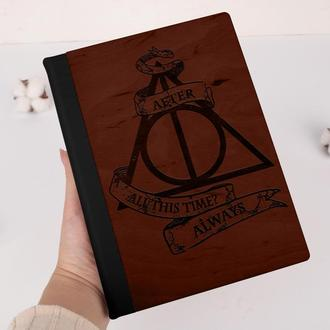 Деревянный блокнот с гравировкой, записная книжка, скетчбук, Гарри Поттер, Harry Potter