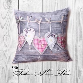 """Декоративна подушка для святкового декору """"HEART"""""""