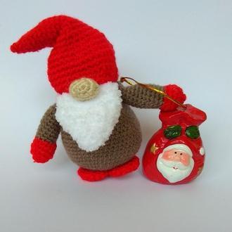 Новогодний гном, Скандинавский гном - шапка на глаза