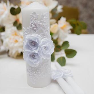 Свечи на свадьбу Silk flowers