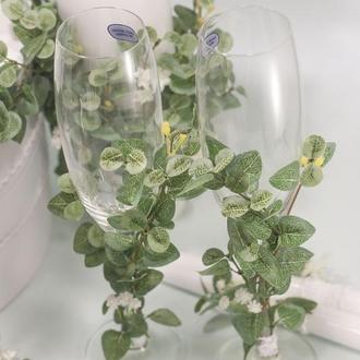 Свадебные Бокалы Botanic Top 2019 с эвкалиптом