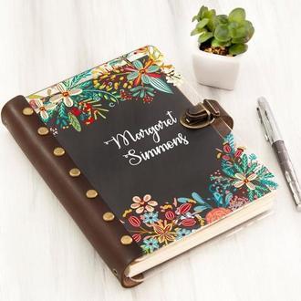 Планер в акриловой обложке с цветной печатью «Flowers»