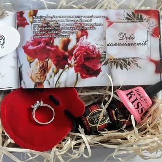 Подарок на 8 марта Оригинальный подарок для любимой Коробочка для ювелирных украшений