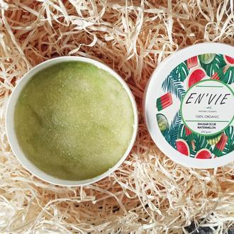 """Натуральный сахарный скраб для тела с маслами Envie Cosmetic ( """"La Palm"""" Арбуз ) ( 500гр.)"""