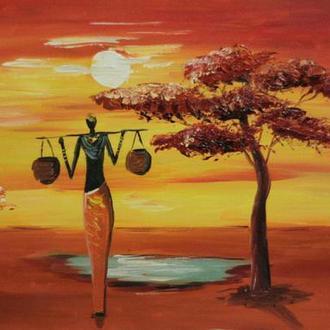 Картина масло, холст 60х30 Lubov Vakulenko №2052