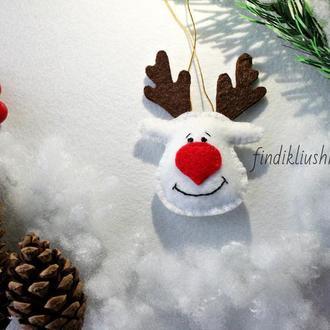 """Новогодняя игрушка """"Олень"""". Украшение на ёлку"""