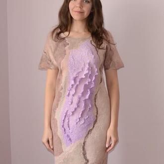 Платье валяное Прикосновение нежности