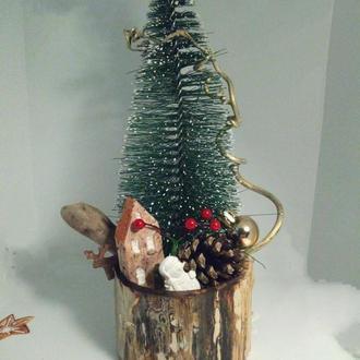 Новогодняя елка на стол маленькая елочка